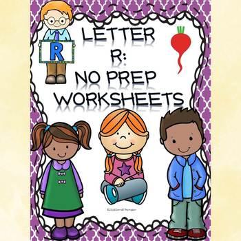 Alphabet Letter of the Week: Letter R (No Prep Worksheets)