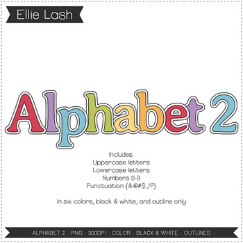 Alphabet 2 Digital Clipart