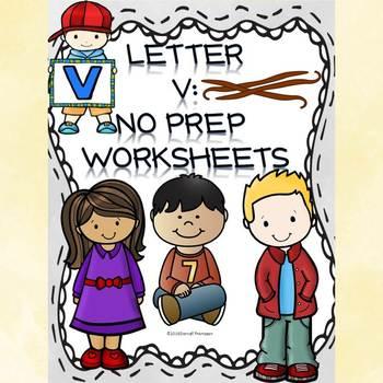 Alphabet Letter of the Week: Letter V (No Prep Worksheets)