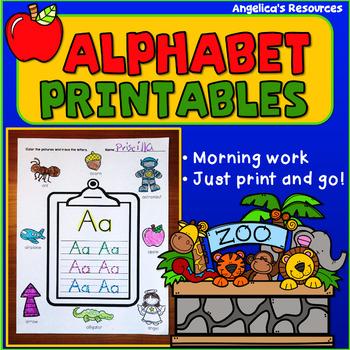 Alphabet Morning Work (No Prep...Just print and go!)