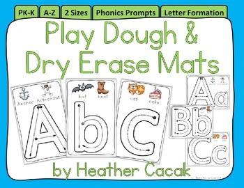 Alphabet A–Z Phonics Play Dough & Dry Erase Mats