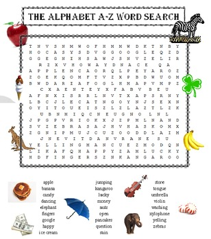 Alphabet A-Z Word Search Puzzle