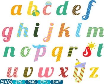 Alphabet ABC Multicolour small Word Art clip art letters t