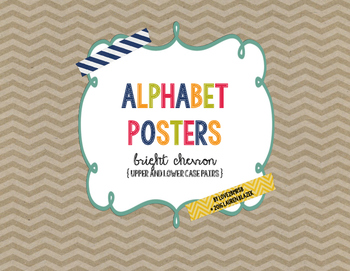 Alphabet (ABC) Posters with Upper and Lower Case Pairs {Br