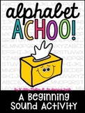 Alphabet Achoo! {a beginning sounds activity}