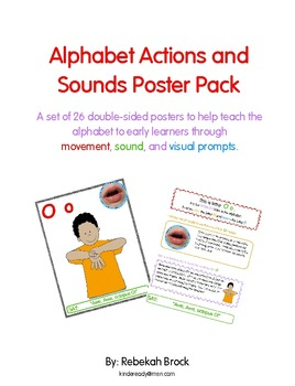 Alphabet Actions and Sounds Poster Pack:  26 Posters to te
