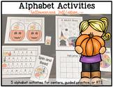 Alphabet Activities: Halloween Edition