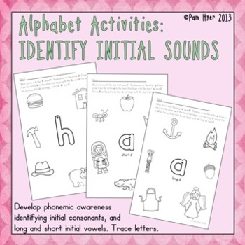 Alphabet Activities:  Identify Initial Sounds