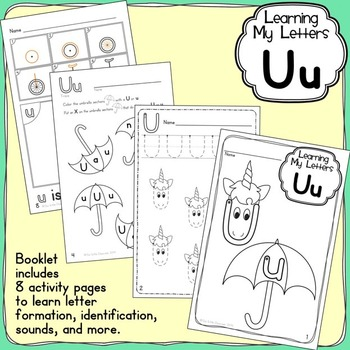 Alphabet Activities: Learning My Letters [Uu]