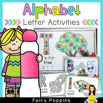 Alphabet Activities - Pom Pom Mats & Bingo Dauber Worksheets