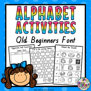 #AUSBTS17 Alphabet Activities - Qld Beginners Font