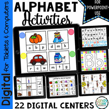 Alphabet Activities for PowerPoint Use: Digital Hands-On A
