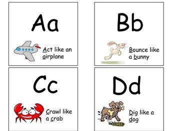 Alphabet Activity Cards A-D