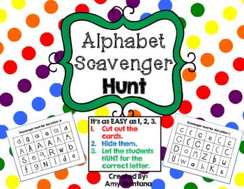 Alphabet Activity {Scavenger Hunt}
