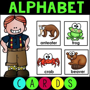 Alphabet Animal ABC Cards Matching Game