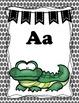 Alphabet Animal ABC posters - Black Polka Dot