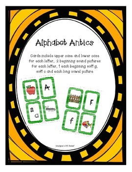 Alphabet Antics letter sound and letter name