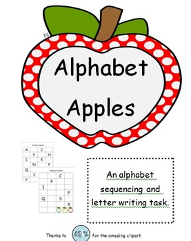 Alphabet Apples Letter Sequencing for Students with Specia