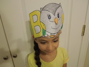 """Alphabet """"B is for Buho"""" Spanish hat patterns (5 versions)"""