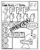 Alphabet BEGINNING SOUNDS Worksheets- Color or Dab (pre-kg