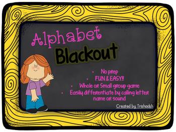 Alphabet BLACKOUT!