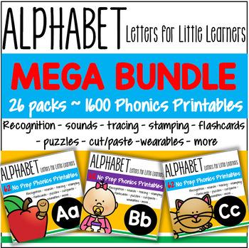 Alphabet BUNDLE Recognition Sounds Tracing Stamping Flashc