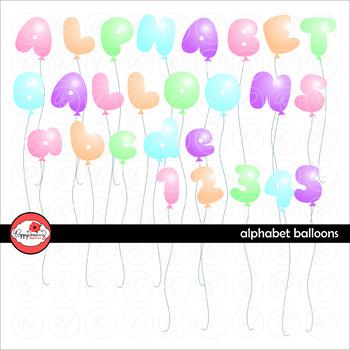 Alphabet Balloons Clipart by Poppydreamz