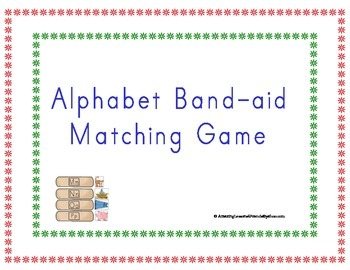 Alphabet Band aid Matching Game