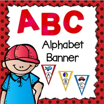 Alphabet Banner- Primary Colors