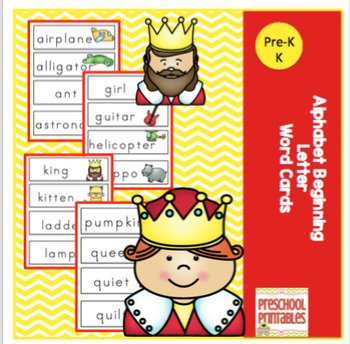 Alphabet Beginning Letter Word Cards