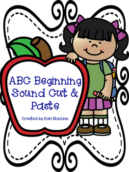 Alphabet Beginning Sound Cut and Paste