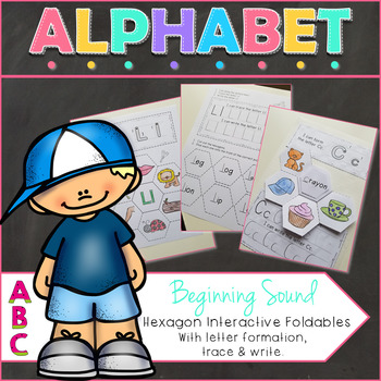 Alphabet Beginning Sound Interactive Notebook Foldables