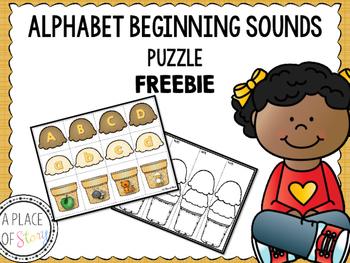 Alphabet Beginning Sounds Puzzle (FREEBIE)