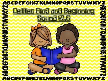 Alphabet Beginning Sounds and Letter Finds