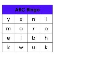 Letter Identification Bingo