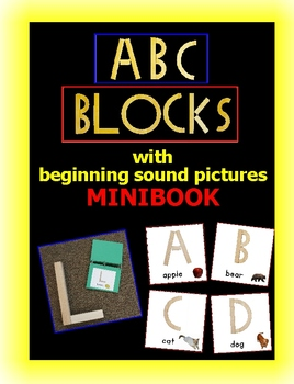 Alphabet Blocks Book (minibook)- with beginning sound pictures