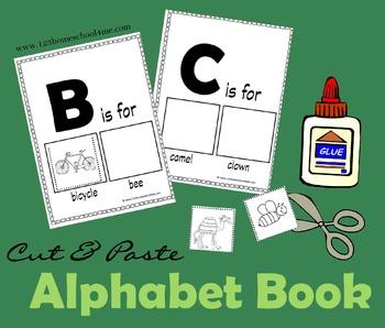 Alphabet Book Cut & Paste (Preschool & Kindergarten)