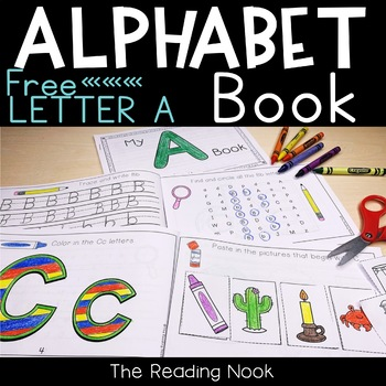 Alphabet Interactive Book A - Freebie!
