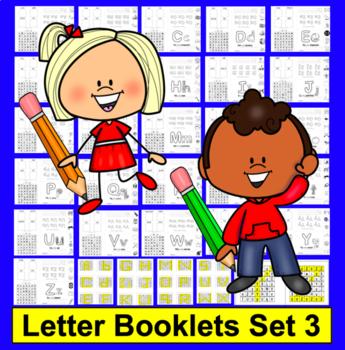Alphabet Booklets Interactive Foldable SET 3 Sound & Lette