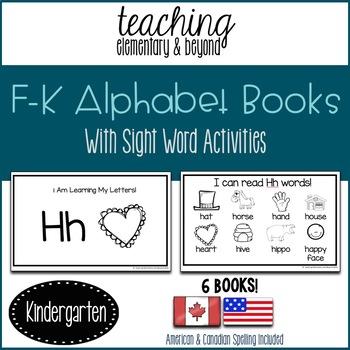 Alphabet Books: F to K & Activities
