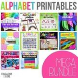Alphabet Activities, Alphabet Printables Bundle