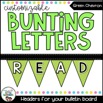 Alphabet Bunting - Lime Green Polka Dot