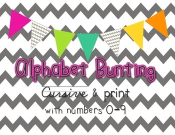 Alphabet Bunting Kit [create your own display!]