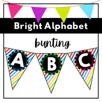 Alphabet Bunting - Rainbow Stripes