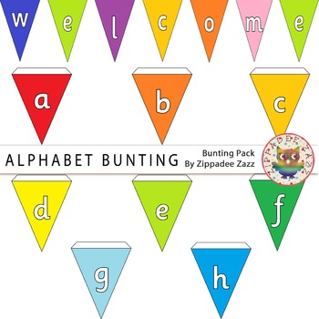Alphabet Bunting - lowercase a - z! Clipart / Printables / Signs