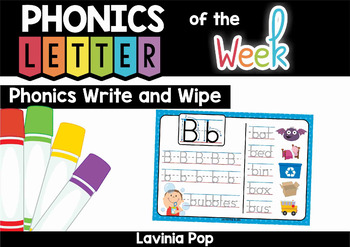 Phonics Write and Wipe: letters and decodable words