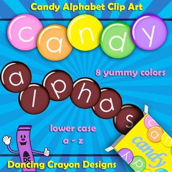 Alphabet Letters: Candy Alphabet Clip Art