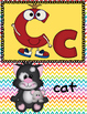 Alphabet Cards - Rainbow Chevron