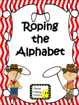 Alphabet Matching Cards ~ Roping the Alphabet (Western Kids)