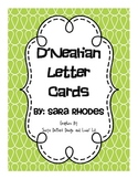 Alphabet Cards {Swirls & D'Nealian} Brights!